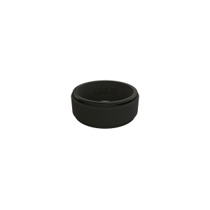 Men's  Polished Step Edge Silicone Ring