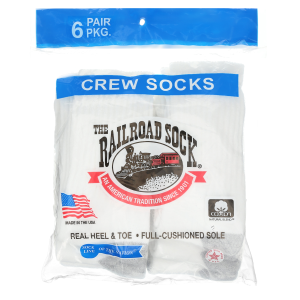 Kids'  Youth Full-Cushion Crew Sock - 6-Pairs