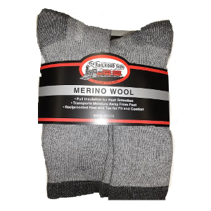 Men's  6 Pack Merino Wool Crew Sock