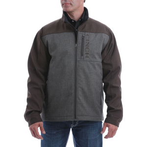 Men's  Textured Color Blocked Bonded Conceal Carry Jacket
