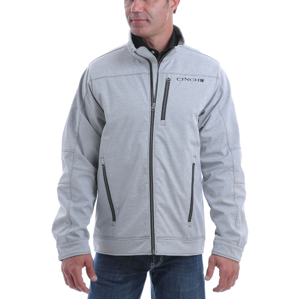 Gray Textured Concealed Carry Bonded Jacket