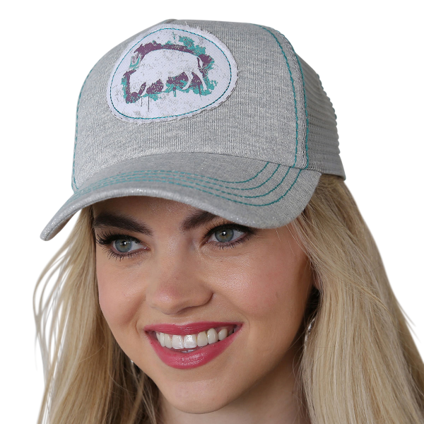 7d8c4454 Cruel - Women's Buffalo Patch Mesh Back Trucker Cap - Murdoch's
