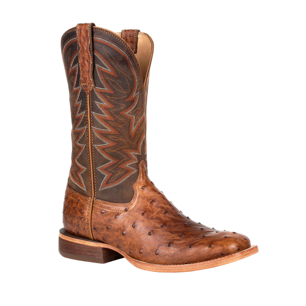 Premium Exotic Full-Quill Ostrich Western Boot