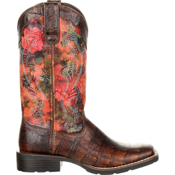 "12"" Mustang Faux Exotic Western Boot"