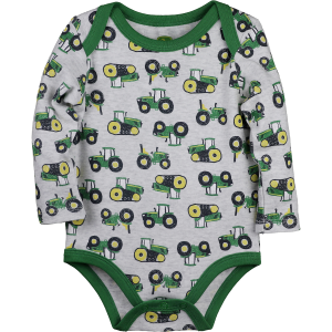 Boys'  Infant Long Sleeve Tractor Fleet Bodysuit