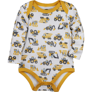 Boys'  Infant Long Sleeve Construction Fleet Bodysuit