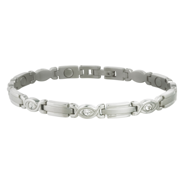 Executive Silver Gem Magnetic Bracelet