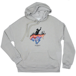 Women's  Painted Desert Cowboy Drop-Shoulder Hoodie