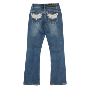 Girls'  Fan Border Pocket Boot Cut Jean