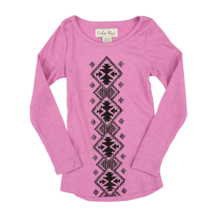 Girls'  Aztec Diamond Long Sleeve Shirt