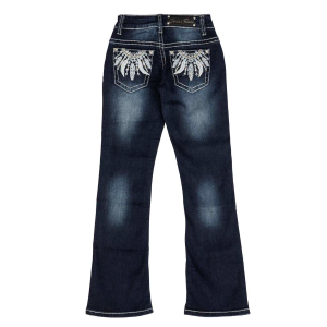 Girls'  Multi Feather Boot Cut Jean