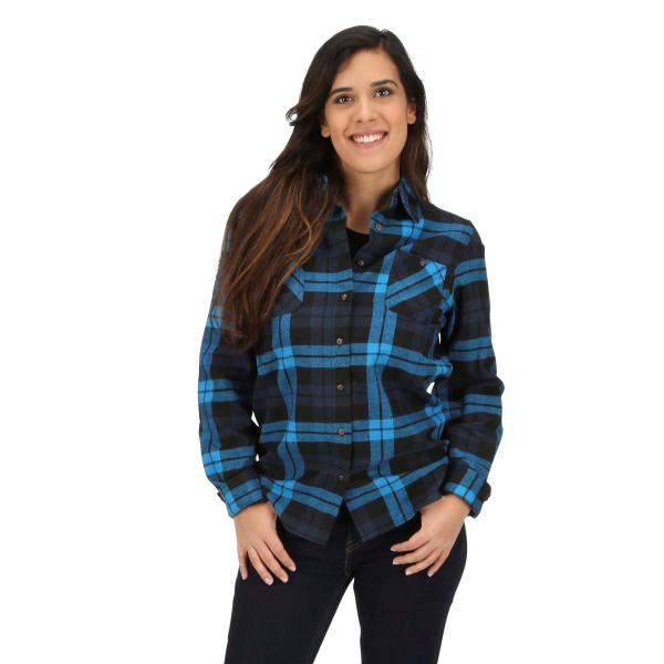 Flannel Plaid Long Sleeve Button Down Shirt