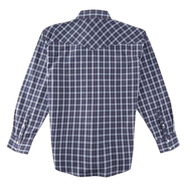 2ad5c57cd98e Murdoch's – Pintlar - Men's Blue/White/Purple Plaid Long Sleeve Snap ...