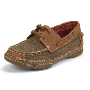Women's  Straw Canvas with Tan Leather 3R Shoe