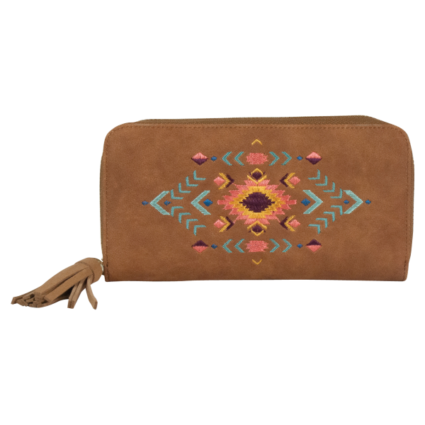 Avery Aztec Embroidered Wallet