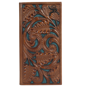Men's  Roughy Floral Tooled Rodeo Wallet