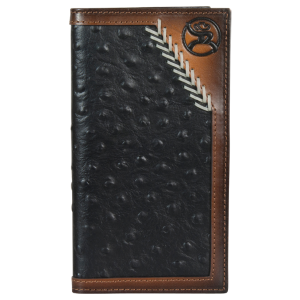 Men's  Roughy Rodeo Wallet Black Ostrich