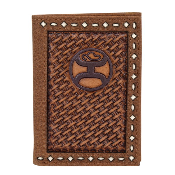 Basketweave Signature Tri-Fold Wallet