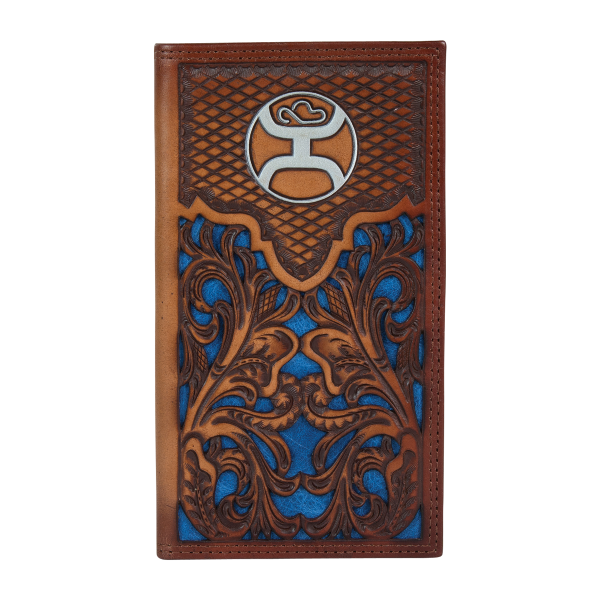 Blue Inlay Signature Rodeo Wallet