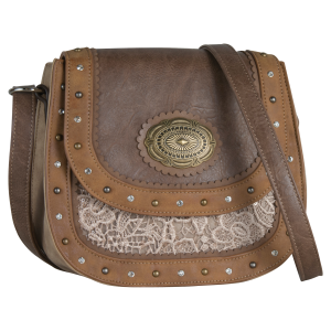 2dc1f7d8aa14 Lace and Concho Crossbody Bag