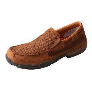 Men's  Basket Weave Slip-On Moc