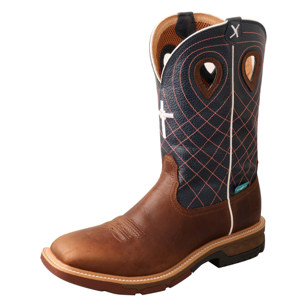 "12"" Alloy Toe Western Work Boot with CellStretch"