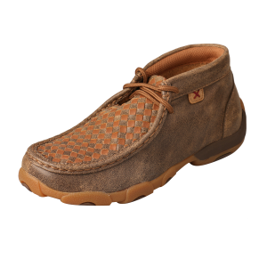 Kids'  Basketweave Driving Mocs Ankle Shoe