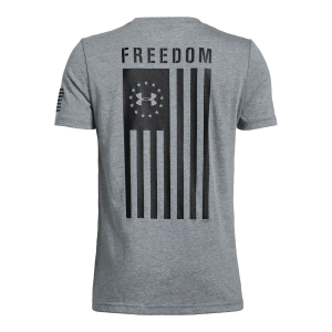 Boys'  UA Freedom Flag Short Sleeve Tee