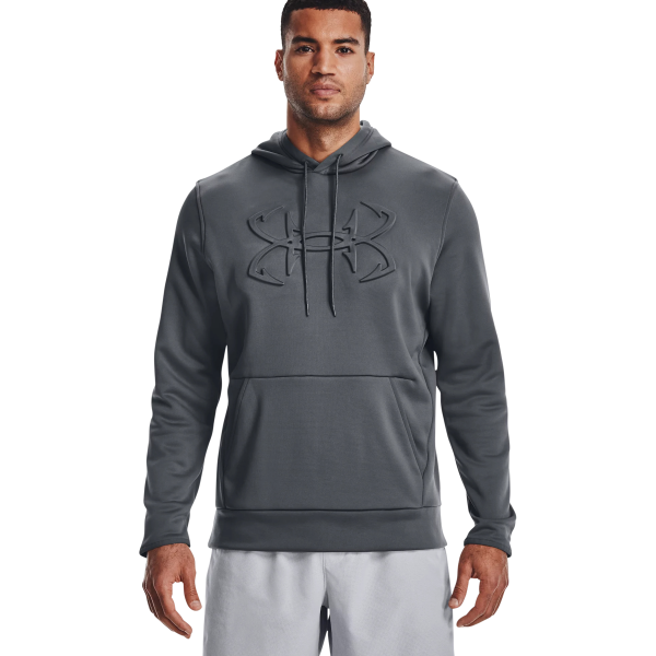 Long Sleeve UA Armour Fleece Embossed Fish Hook Hoodie