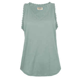Women's  Crochet Trim V-Neck Tank