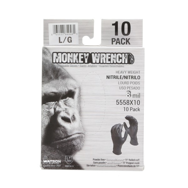 Monkey Wrench 10-Pack Disposable Gloves