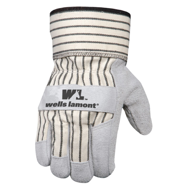 Suede Cowhide Leather Palm Glove