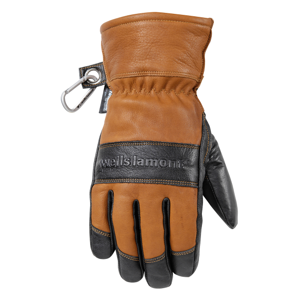 HydraHyde Insulated Black Grain Goatskin Gloves