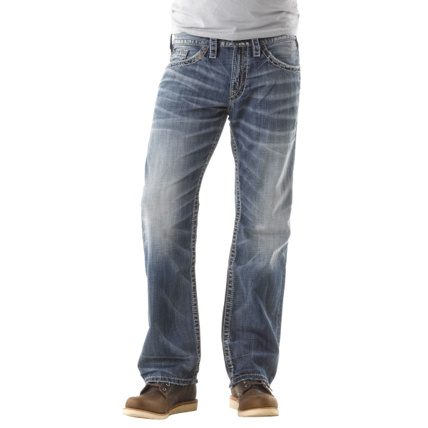 Relaxed Fit Straight Leg Zac Light Wash Jean