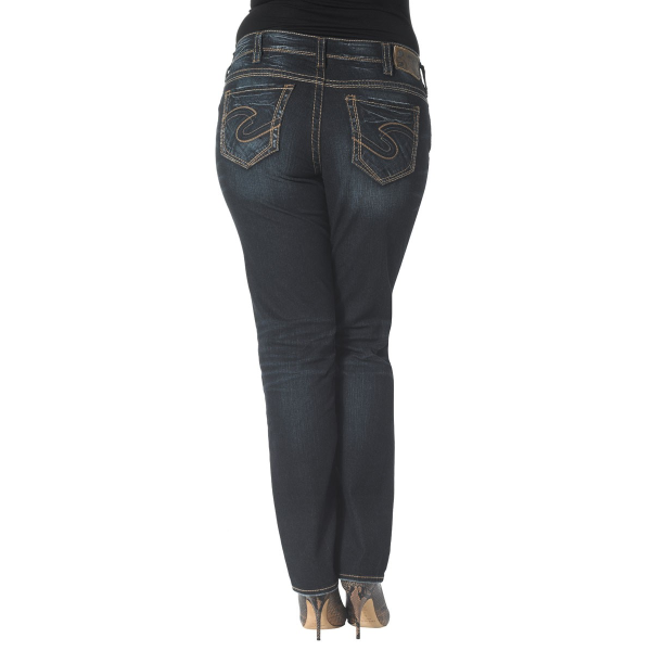 7d7a4f21 Silver Jeans - Women's Well Defined Curve Suki Plus Mid Rise Straight Leg  Jean