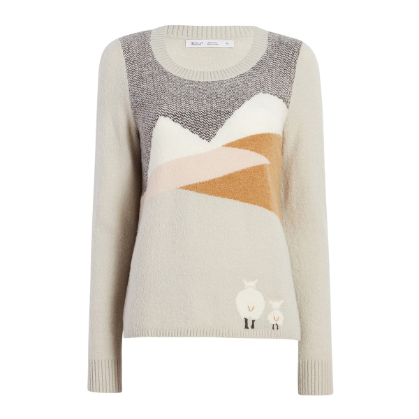 Sheep Landscape Motif Sweater
