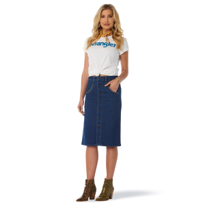 Women's  Retro Premium High Rise Denim Pencil Skirt