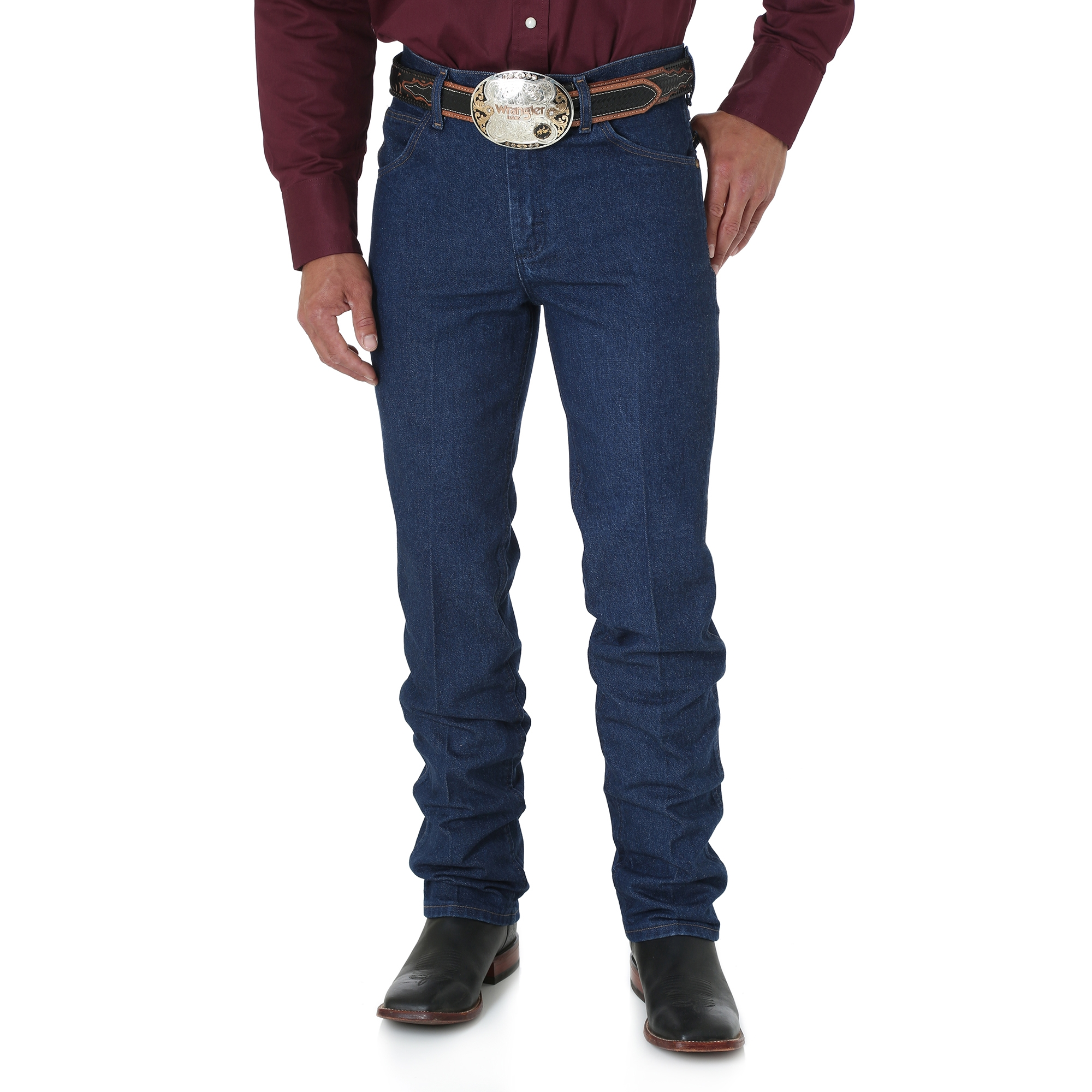 01eda616 Wrangler - Men's Premium Performance Cowboy Cut Slim Fit Jean - Prewashed