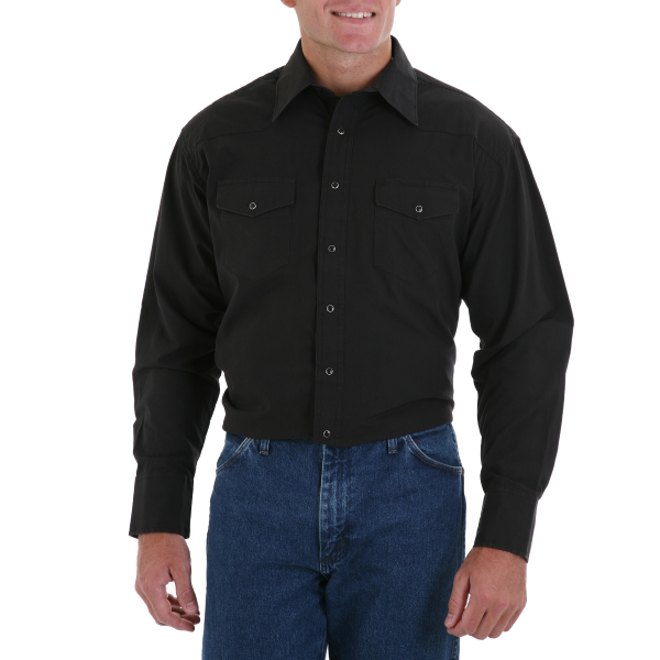 Western Snap Shirt-Black