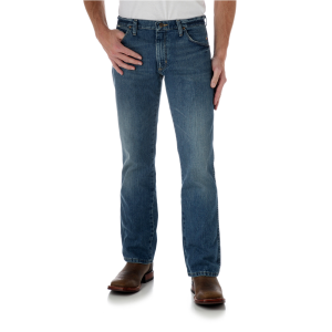 Men's  Retro Slim Boot Jean - Worn In