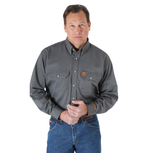 Men's  FR Flame Resistant Long Sleeve Work Shirt