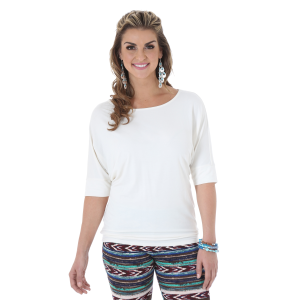 Women's  Rock 47 Dolman Sleeve Top - Vanilla Ice