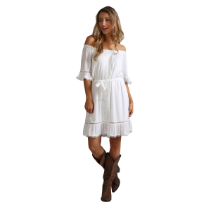 eefd4012953 new Women s Off the Shoulder Ruffle Dress