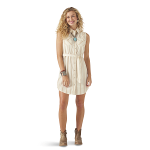 Women's  Sleeveless Shirt Dress