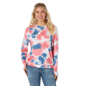 Women's  Essential Curved Hem Tie Dye Sweatshirt