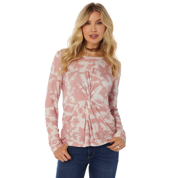 Pink Tie Dye Knotted Top