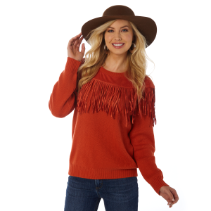 Women's  Fringe Neck Sweater