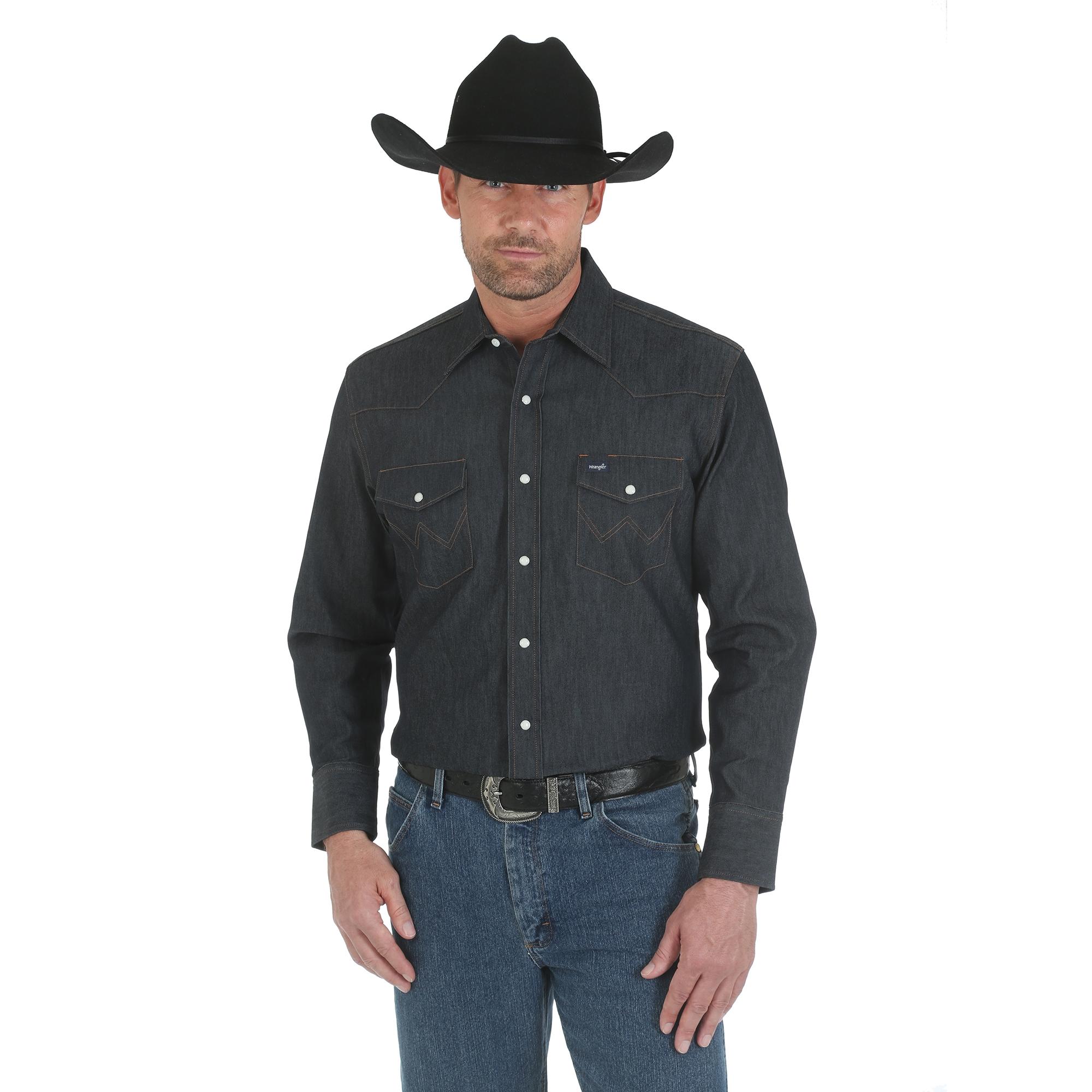 "MEN/'S WRANGLER COWBOY CUT WESTERN SNAP SHIRT NEW IN PACKAGING  20x35/"" WHITE"