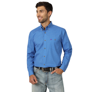 Men's  Classics Long Sleeve Print Shirt