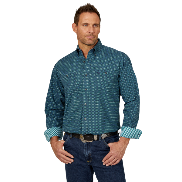 George Strait Short Sleeve One Pocket Plaid Shirt